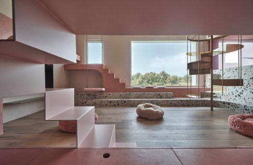 Cats' Pink House, la casa rosa di KC Design Studio