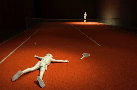 Elmgreen & Dragset, la competizione sociale come una partita di tennis