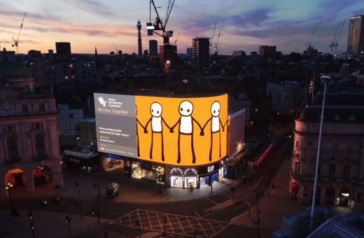 STIK's digital mural in London