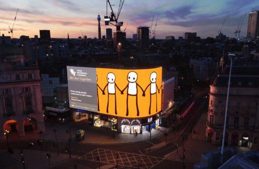 Il murale digitale di STIK a Londra