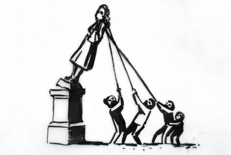 L'idea di Banksy sul futuro della statua di Edward Colston