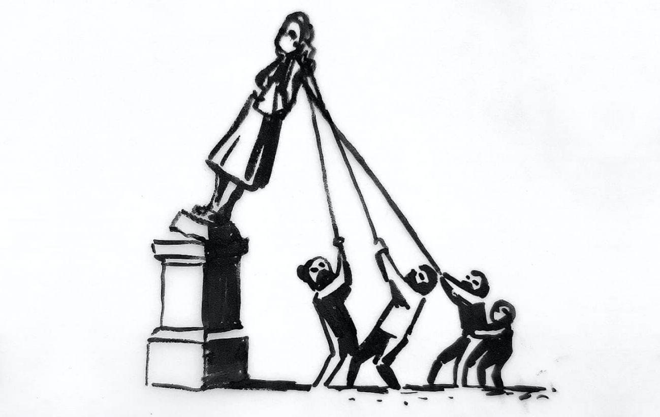 L'idea di Banksy sul futuro della statua di Edward Colston | Collater.al