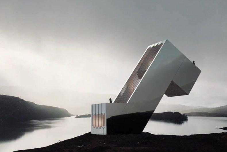The Diagonal Dwelling, la casa inclinata di Nyde Studio