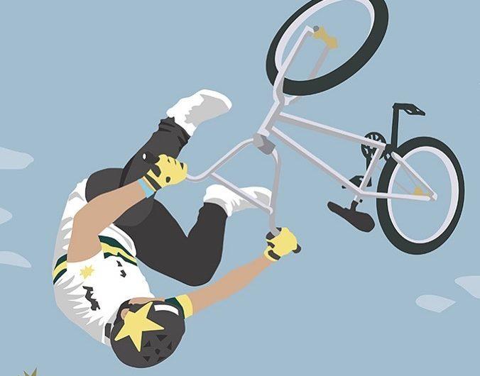 Il ciclismo attraverso le illustrazioni di Jen Lewis