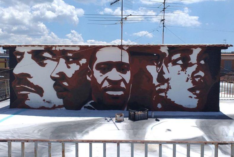 Jorit omaggia George Floyd con un murale a Napoli