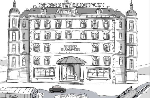 The Grand Budapest Hotel animated storyboard