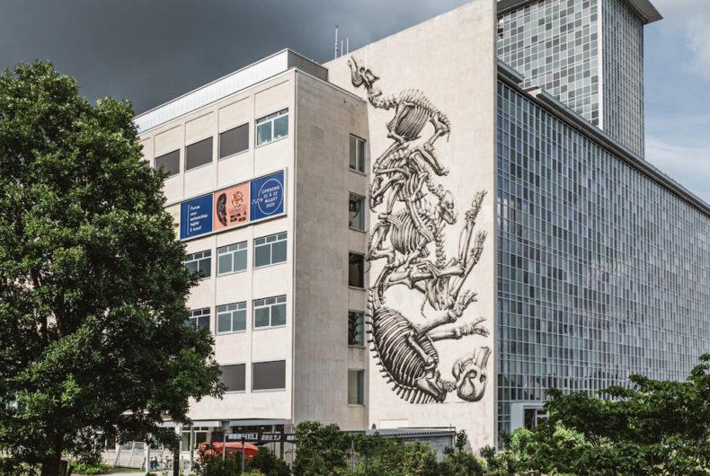Gli animali urbani di ROA arrivano all'università di Gent