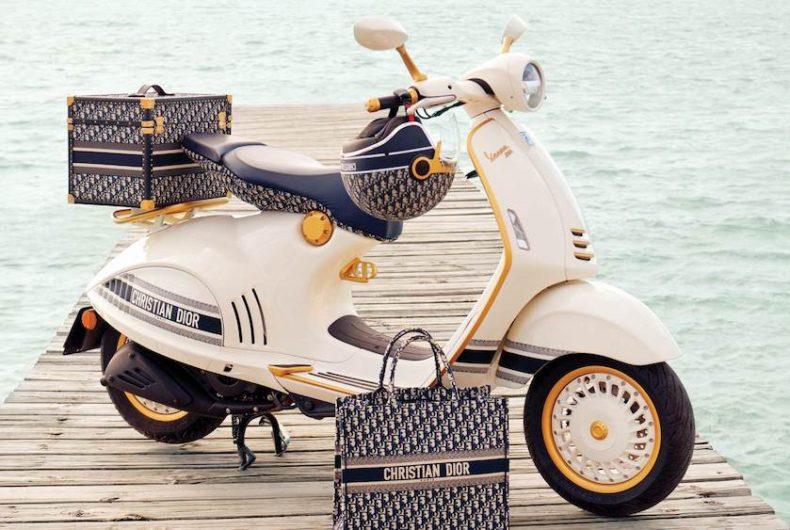 La Vespa veste Dior, insieme per festeggiare i 75 anni