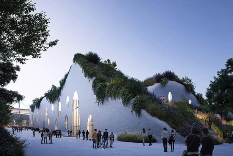 Il progetto di MVRDV per il complesso olimpico di Parigi