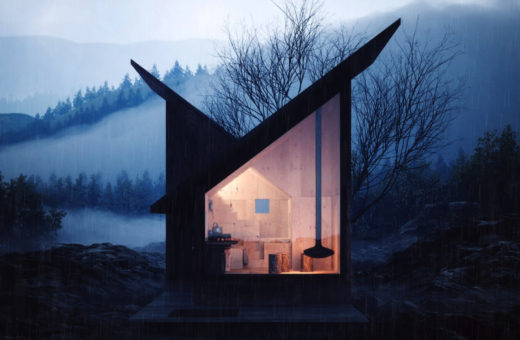 The Mountain Refuge, the modular wooden shelter