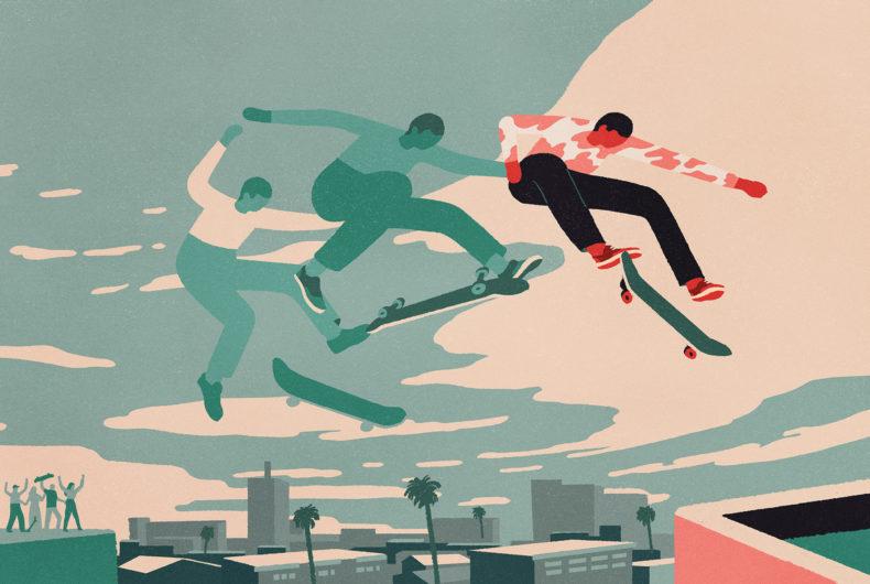 Peter Phobia illustra il suo amore per lo skate