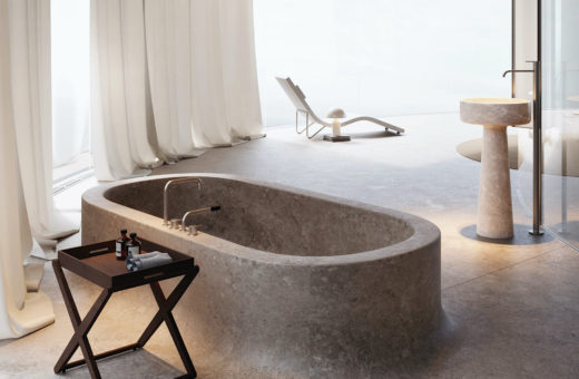 Beach Hotel, a minimalist and brutalist suite on the beach