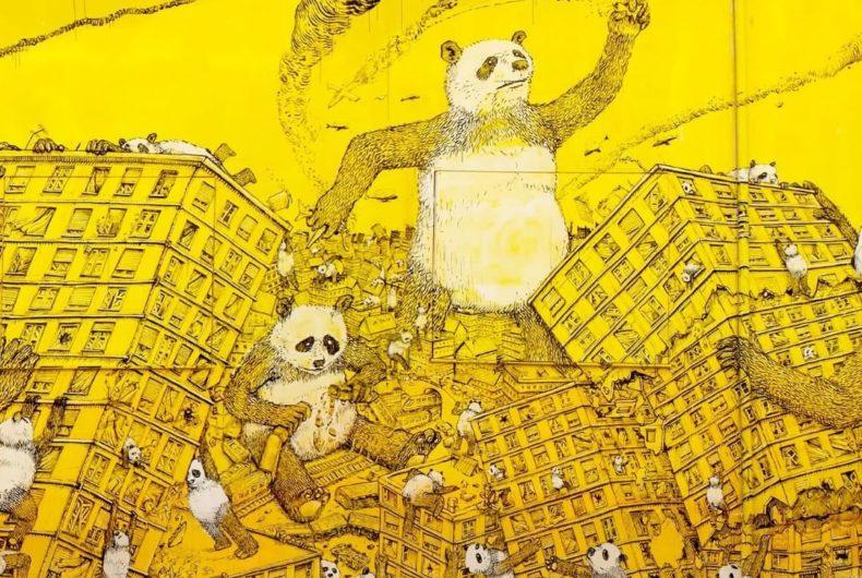 """""""La Pandemia"""" secondo lo street artist italiano Blu"""