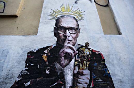 Il murale di Harry Greb dedicato a Ennio Morricone