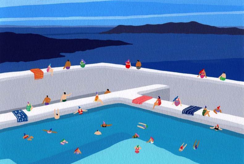 Nei dipinti di Joanne Ho è sempre estate