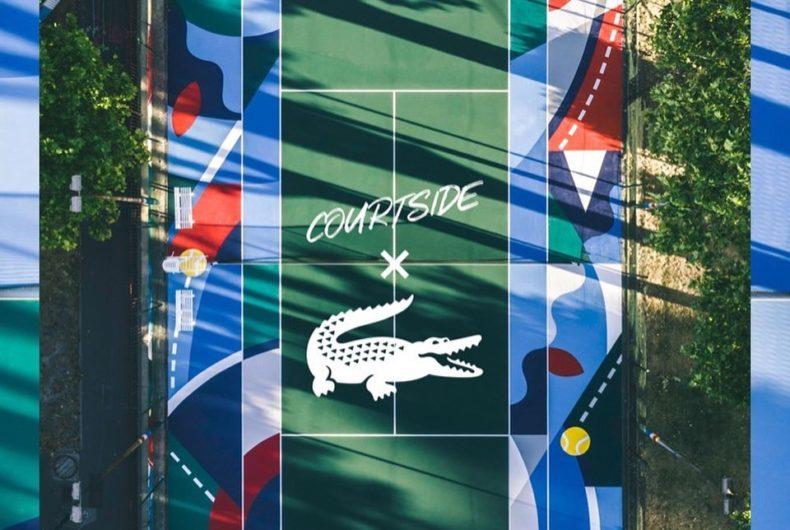Courtside x Lacoste, il nuovo campo da tennis a Clichy