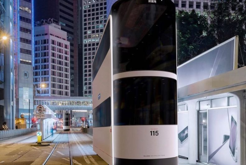 Island, il tram elettrico per Hong Kong di Ponti Design Studio