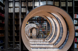 The spectacular bookcase designed by X+Living in Beijing