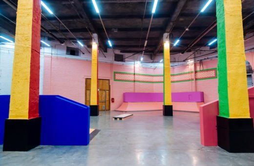 The colorful skatepark designed by Yinka Ilori in Lille