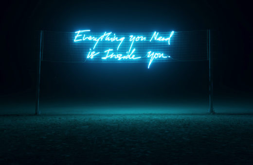 Olivia Steele's neons, little truths
