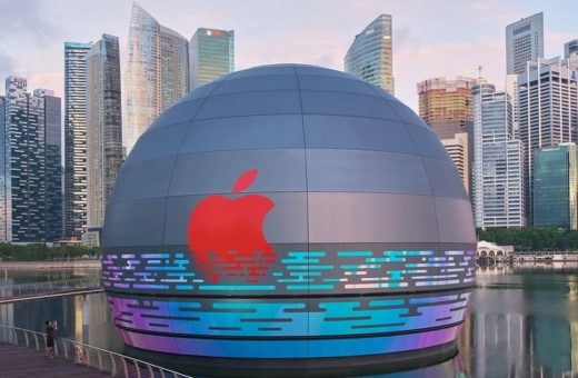 Apple's new floating store in Marina Bay
