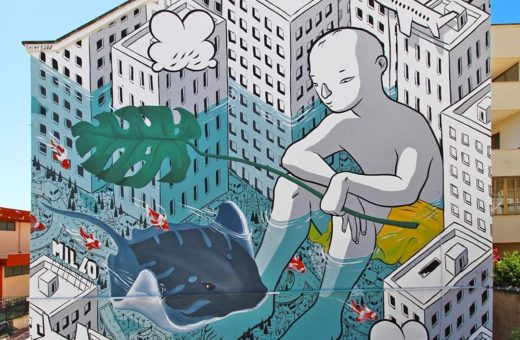 """Beyond the sea"", Millo's new artwork"