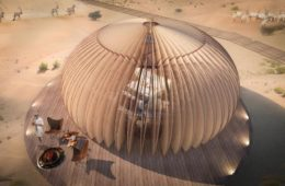 Oculus, the hotel complex in the heart of the desert