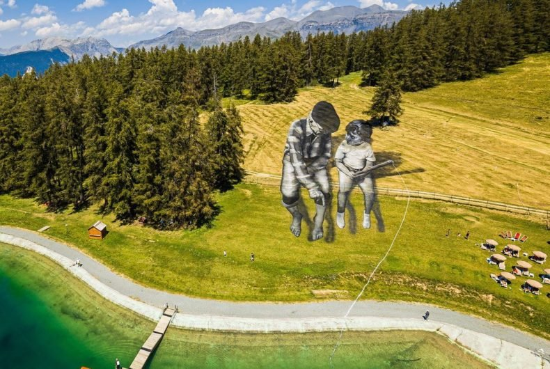 """From Street to Land,"" Saype's spectacular art"
