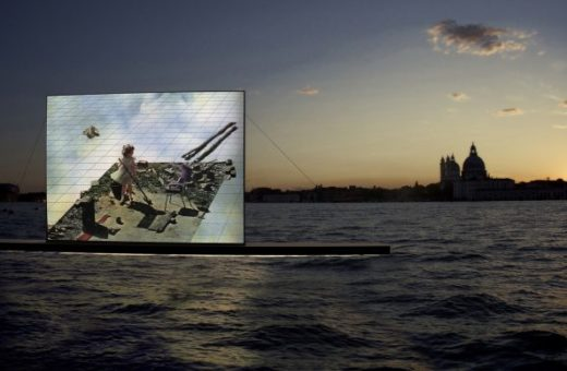 The Venice Lagoon becomes a floating cinema