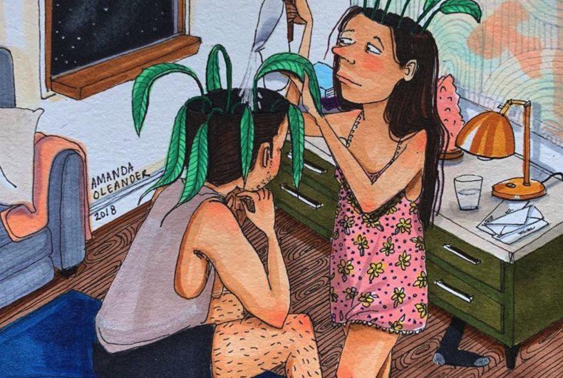 Le illustrazioni senza fronzoli di Amanda Oleander