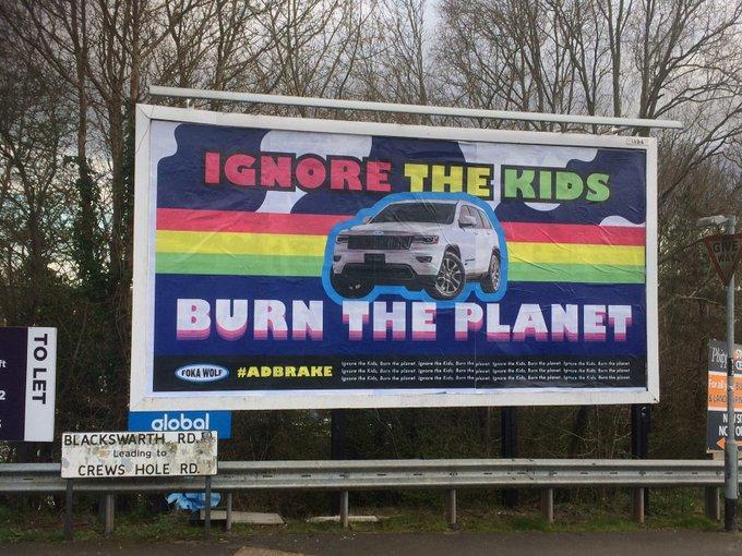 """""""ADBRAKE CAR SUBVERTS"""", le pubblicità di Brandalism"""