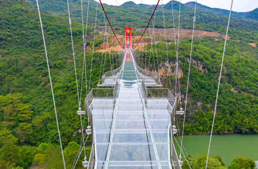 In China they made the longest glass bridge in the world