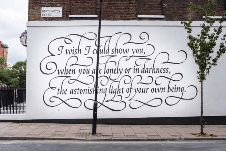 I Wish, il murale di Seb Lester che omaggia il poeta Hafez