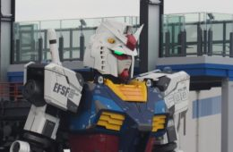 The Gundam robot built in Japan has taken its first steps