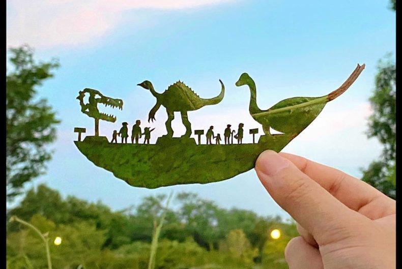 Lito Leaf, da una foglia ad un'opera d'arte