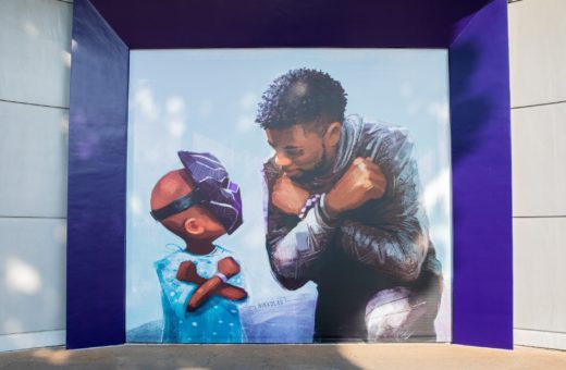 Wakanda Forever, the new mural dedicated to Chadwick Boseman