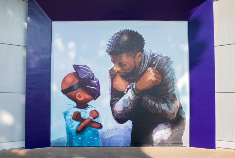 Wakanda Forever, the new mural dedicated to Chadwick Boseman