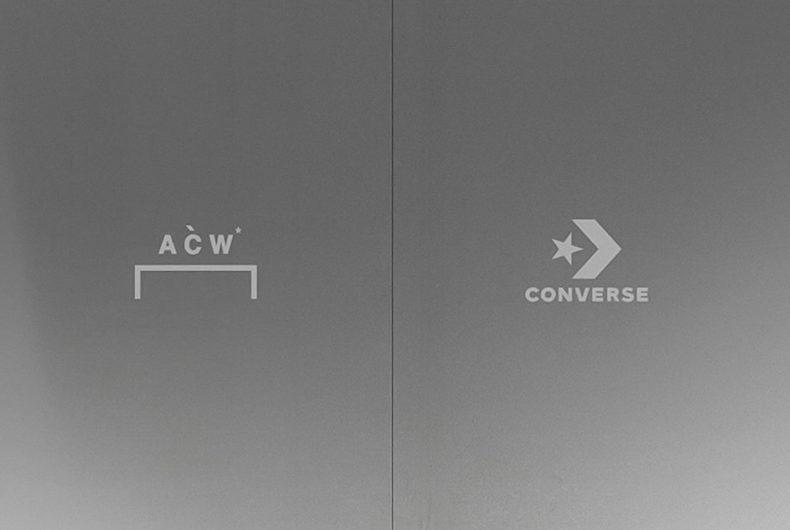 A-COLD-WALL* e Converse, una nuova collaborazione