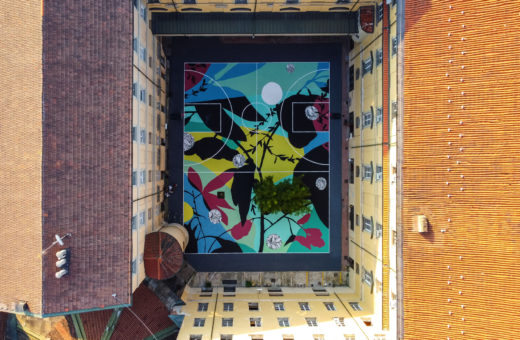 Blooming Playground, Tellas' artwork in Turin