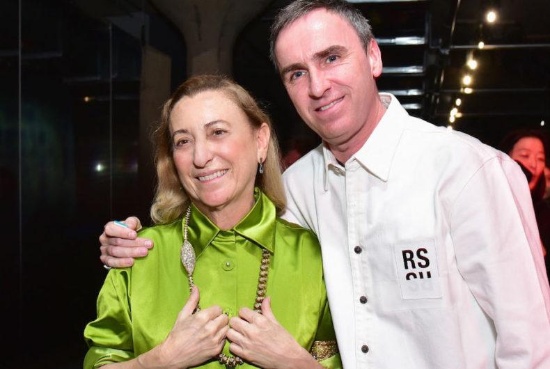 Send a question to Miuccia Prada and Raf Simons
