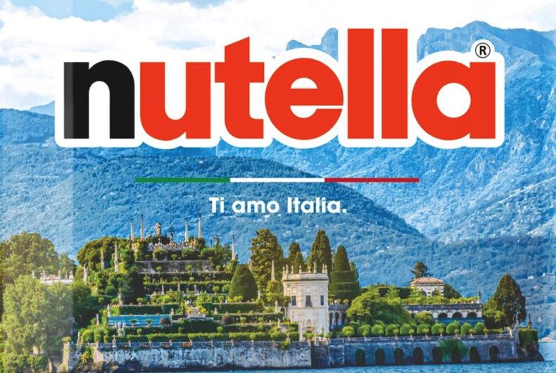 """""""Ti Amo Italia"""", Nutella celebra la bellezza del territorio italiano"""