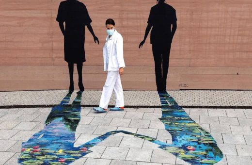 """Fortaleza"", Pejac's artwork for health workers"