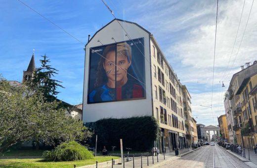 Jorit's mural in Milan dedicated Milan and Inter