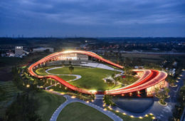Loop of Wisdom, a jogging track merged into architecture