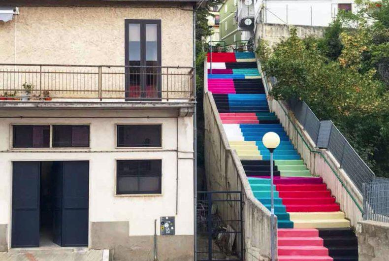 Steps, il nuovo intervento d'arte urbana di Nico Skolp