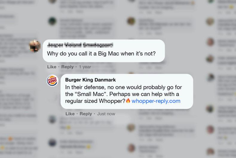 Burger King dà una mano a McDonald's e risponde alle domande dei suoi utenti