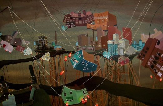 The chaos of the cities in Amy Casey's paintings
