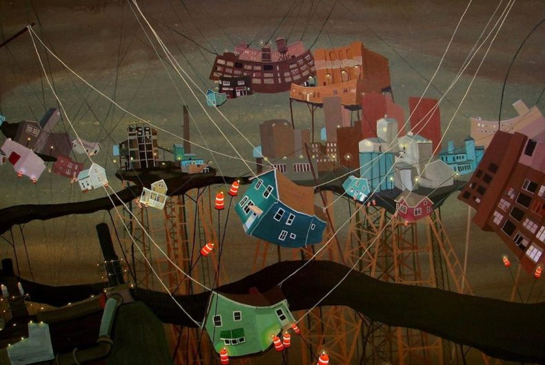 Il caos delle città nei dipinti di Amy Casey