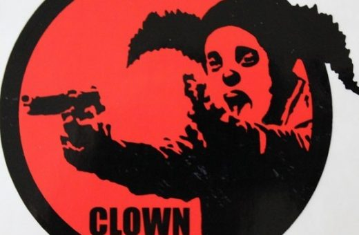 Clown Skateboards and the logo designed by Banksy