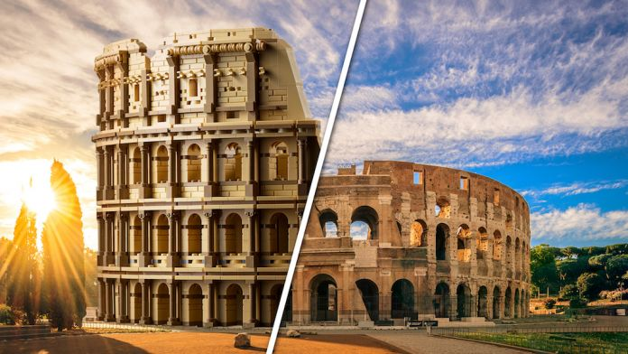 A Colosseum of 9036 pieces, the largest LEGO set ever